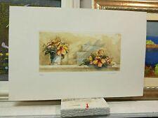 SALVATORI AMERICO litografia acquerellata Fiori rose libro quadro grecoarte
