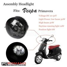 Scooters Front LED High / Low Beam DRL Headlight Assembly For Vespa Primavera