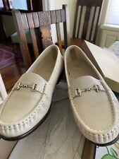 SAS TriPad Comfort Jewel Slip-On Loafers Shoes Cream Leather Size 7W---New