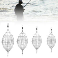 Stainless Steel Wire Bait Thrower Trap Cage Carp Fishing Feeder Tackle Tool
