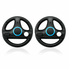Steering Wheel for Nintendo Wii Motion Plus Remote Controller (Black, 2 Pack)