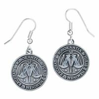 Harry Potter Ministry of Magic Drop Earrings - Silver Plated Carat Shop