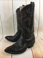 NOCONA Brown Leather Cowboy WHITE LABEL 1234 Western Boots Mens 6.5 D