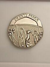 2008 20p undated twenty pence mint error mule copy coin no date Shield of Arms