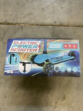 Rugged Racers Kid's Electric 3-Wheel Kick Scooter w/ Dual Brake System Blue