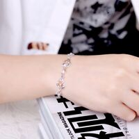 """925 Sterling Silver Real Citrine Gemstone Tennis Link Bracelet 7"""""""