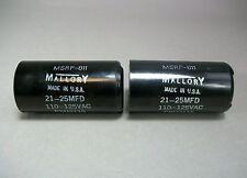 Mallory Capacitor PSU2115 Lot of 2 MSRP-811 110-125VAC Free Shipping - New