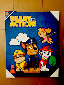 """Single Canvas  Picture Paw Patrol  Kids Room  16""""x20"""" New !!!"""