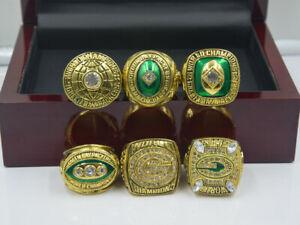 6PCS Green Bay Packers Championship Ring !--