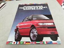 1989 TOYOTA COROLLA Australian Sales Brochure SECA Sedan Wagon Hatch