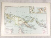 1898 Antik Map Of Papua Guinea Gazelle Halbinsel Alte 19th Jahrhundert Original