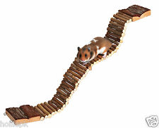 NATURAL WOOD & BARK BENDY LADDER BRIDGE HAMSTER DEGU FITS TO CAGE TOY CHEW 6221