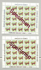Guyana 1989 Halley's Comet o/p on Butterflies 2v M/S of 25 o/p Specimen