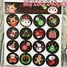 Lots Stickers Merry Christmas Badge Sticker Envelope Seal Wrapping Stickers UK