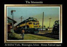 Magnet Train Post Card Photo Magnet Mononette Monon Railroad 1940s