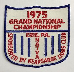 NATVA GRAND NATIONAL CLOTH PATCH-1975 ERIE PA, ATTEX,HUSTLER,MAX,SCRAMBLER