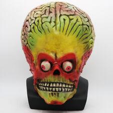 Halloween Mars Attacks Latex Martian Soldier Cosplay Helmet Alien Costume Mask