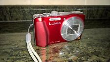 Panasonic Lumix DMC TZ30 digital camera roja con tarjeta SD y dos baterías