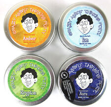 Crazy Aaron's Thinking Putty Glow in dark 4 PACK tins Krypton, Aura, Amber, Ion