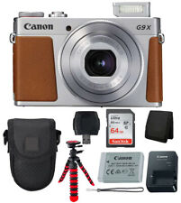 Canon Powershot G9 X Mark II Digital Camera Silver 64GB Accessory Bundle