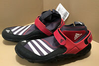 ADIDAS Jawpaw Pro High Top Outdoor Boat Water Shoes Black Red Mens Size 9.5 7B6
