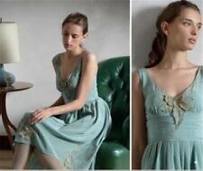 Anthropologie Tawny Garden Dress Lil 8 M embellished rare gorgeous silk applique