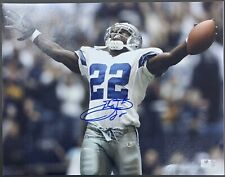 Emmitt Smith Signed Dallas Cowboys HOF 11x14 Photo Autographed GA Authenticated