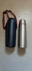 Stainless steel flask and case approx 500ml