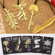 4pcs Gold Plated Hollow Animal Feather Bookmarks Bookmark Book Paper Reading