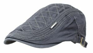 New Unisex Cotton Viscose Gatsby Cap Newsboy Ivy Hat Summer Golf Hat Cabbie