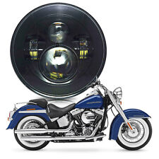 """7"""" LED  Motorcycle HID Projector Headlight for Harley Softail Deluxe Fat Boy US"""