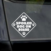 "6"" Spoiled Dog On Board-Dog Lover-Pitbull- Vinyl Window Car Laptop Yeti Decal"