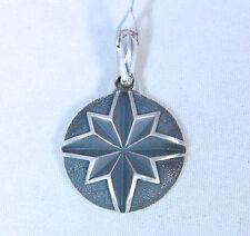 David Yurman Men's North Star Coin Pendant Enhance Sterling Silver $275 NWT