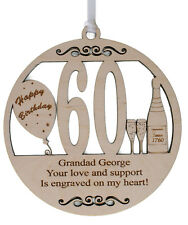 PERSONALISED 60TH BIRTHDAY PLAQUE - ENGRAVED WITH THE WORDING OF YOUR CHOICE