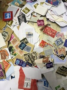 1kg Of British UK Kiloware Older Pre-Security Stamps - Direct From Charities