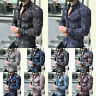 Men Fashion Casual Long Sleeve Shirts Business Slim T-Shirt Printed Blouse Tops