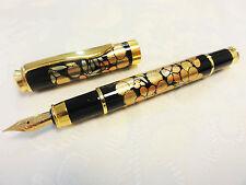 "Japanese Urushi Lacquer Makie fountain Pen ""Chrysanthemum, Bamboo and Plum"""