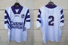 VINTAGE Maillot CASINO SALZBURG RED BULL n°2 ADIDAS trikot shirt 90er maglia L