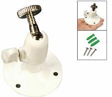 White Mini Metal Bracket Wall Mount Ceiling CCTV Security Camera Stand UK Seller