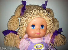 CABBAGE PATCH KID Light Brown WIG HAT HALLOWEEN COSTUME Crocheted Sz 0-12 Month