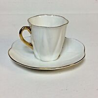 Shelley Bone China England Regency Pattern Demitasse Cup And Saucer
