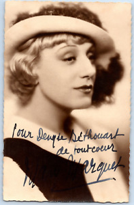 Mary Marquey, actrice française Vintage silver print on postcard paper Tirage