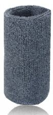 1 X Mens Ladies Gym Sports Tennis Wrist Large Sweatband 15cm Wristband Grey