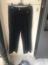 WOMANS M & S BLACK LINEN TROUSERS SIZE 14 LONG