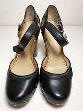 Calvin Klein Venture Women's Strappy Black Leather High Heel Shoes 7.5 M