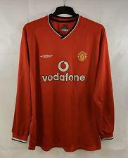 Manchester United L/S Home Football Shirt 2000/02 Adults XXL Umbro B913