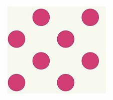 Large Hot Pink Polka Dots On White Wallpaper KD1863