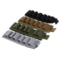 tactical hunting shotgun shell carrier holder 6 round military gun ammo pouch FE