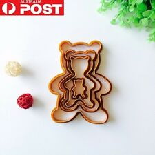 4 Teddy Bear Cookie Cutters Mini Tiny Biscuit Gingerbread Pastry Fondant Shape