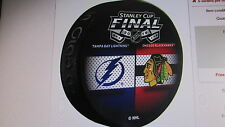 2015 Tampa Bay Lightning /  Chicago Blackhawks Dueling Stanley Cup Final Puck